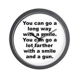 Al capone quote Wall Clock