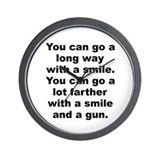 Capone quote Wall Clock