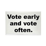 Cute Vote early and vote often Rectangle Magnet (100 pack)