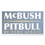 McBush - Pitbull Rectangle Decal