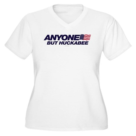 Anyone But Huckabee Womens Plus Size V-Neck T-Shi