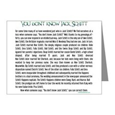 YOU DON'T KNOW JACK SHITT Note Cards (Pk of 10)
