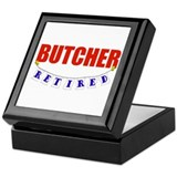 Retired Butcher Keepsake Box