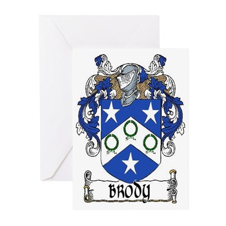 Brody Coat of Arms Greeting Cards (Pk of 10)