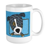 Cartoon Catahoula Leopard Dog Coffee Mug