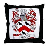 Brenton Coat of Arms Throw Pillow