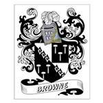 Browne Coat of Arms Small Poster