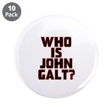 "Who Is John Galt 3.5"" Button (10 pack)"