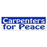 Carpenters for Peace (bumper sticker)
