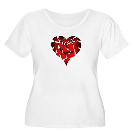 Broken Heart Women's Plus Size Scoop Neck T-Shirt