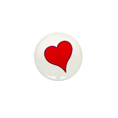 Big Red Heart Valentine Mini Button