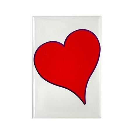 Big Red Heart Valentine Rectangle Magnet