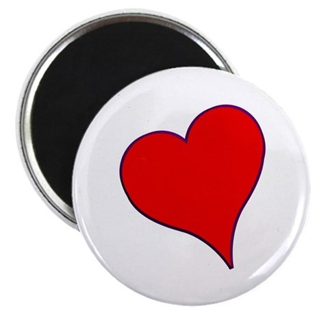 Big Red Heart Valentine 2.25&quot; Magnet (10 pack)