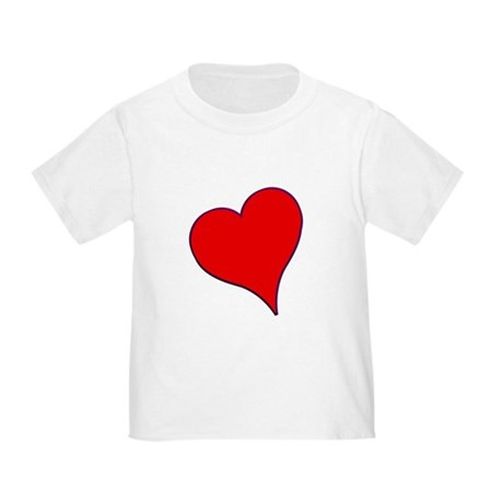 Big Red Heart Valentine Toddler T-Shirt