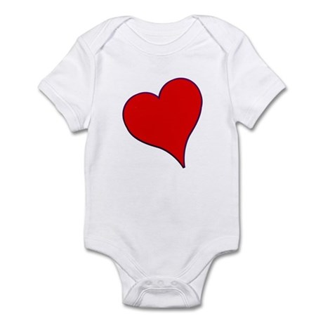 Big Red Heart Valentine Infant Bodysuit