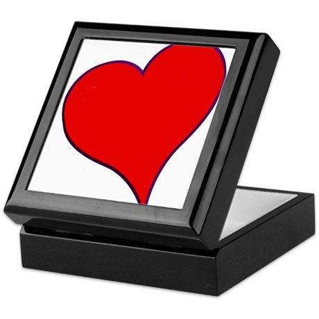 Big Red Heart Valentine Keepsake Box