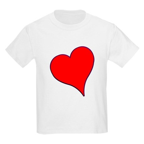 Big Red Heart Valentine Kids Light T-Shirt