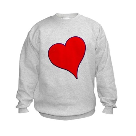 Big Red Heart Valentine Kids Sweatshirt
