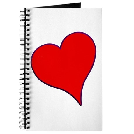 Big Red Heart Valentine Journal