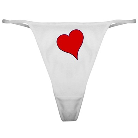 Big Red Heart Valentine Classic Thong