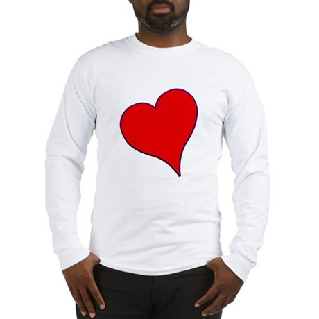 Big Red Heart Valentine Long Sleeve T-Shirt