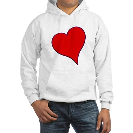 Big Red Heart Valentine Hooded Sweatshirt