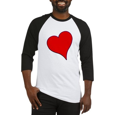 Big Red Heart Valentine Baseball Jersey