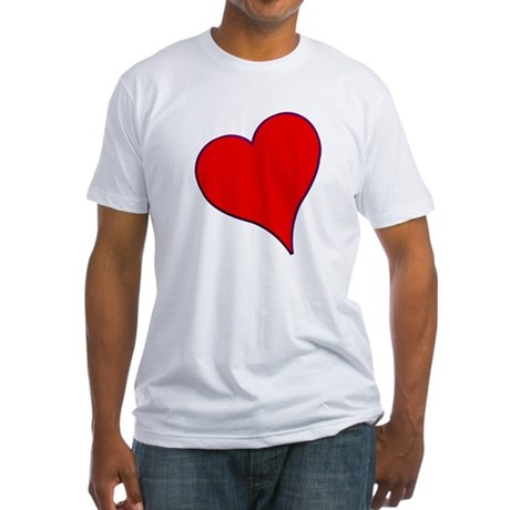Big Red Heart Valentine Fitted T-Shirt