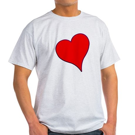 Big Red Heart Valentine Light T-Shirt