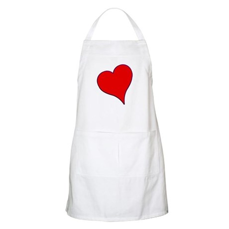 Big Red Heart Valentine BBQ Apron