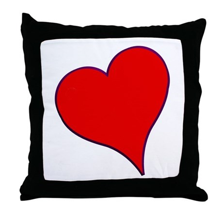 Big Red Heart Valentine Throw Pillow