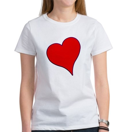 Big Red Heart Valentine Women's T-Shirt