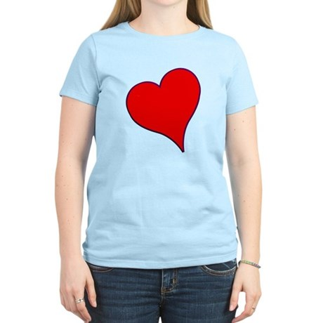 Big Red Heart Valentine Women's Light T-Shirt