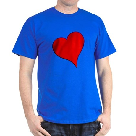 Big Red Heart Valentine Dark T-Shirt