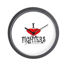 I Love Fighters Wall Clock