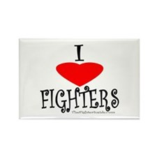 I Love Fighters Rectangle Magnet