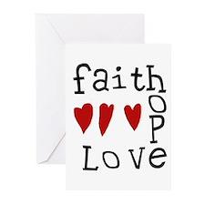Faith, Love, Hope Greeting Cards (Pk of 20)
