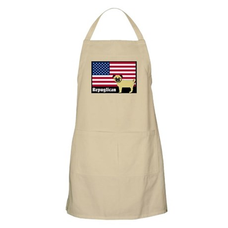 Republican pug Repuglican BBQ Apron
