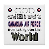 God, Beer & the Canadian Forces Tile Coaster