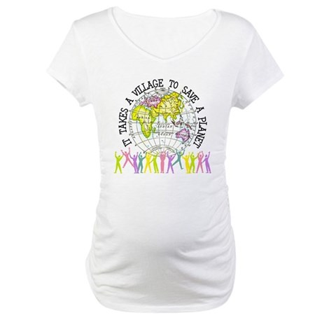 It Takes A Village Maternity T-Shirt