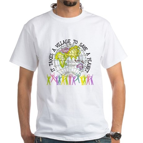 It Takes A Village White T-Shirt