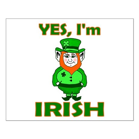 Yes I'm Irish Small Poster