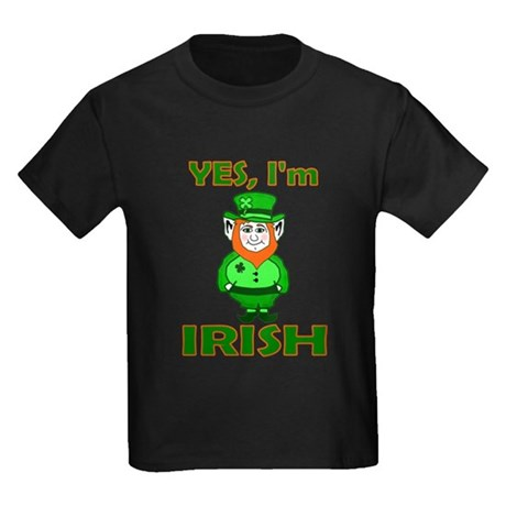 Yes I'm Irish Kids Dark T-Shirt
