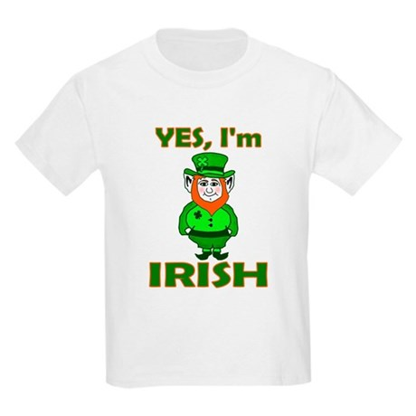 Yes I'm Irish Kids Light T-Shirt