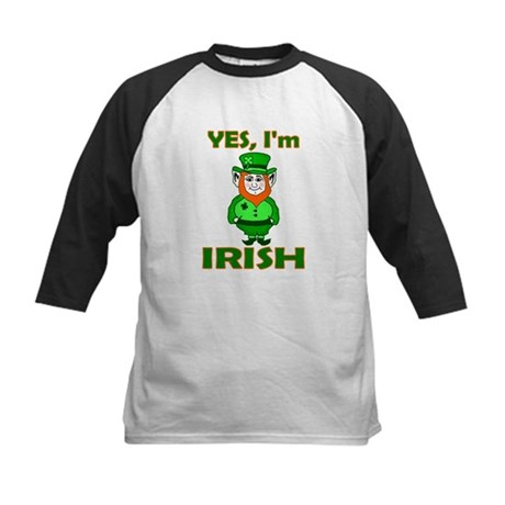 Yes I'm Irish Kids Baseball Jersey