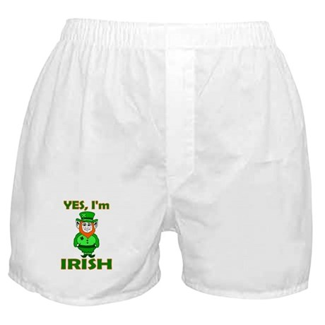 Yes I'm Irish Boxer Shorts