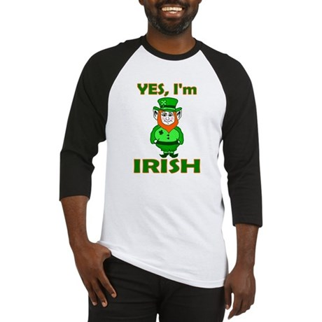 Yes I'm Irish Baseball Jersey