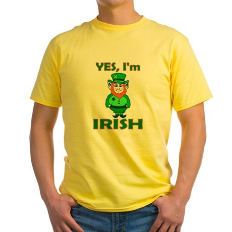 Yes I'm Irish Yellow T-Shirt