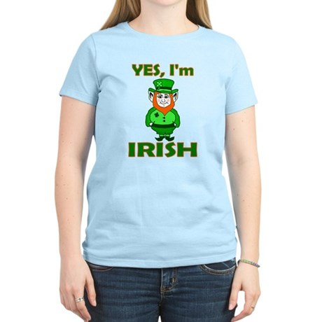 Yes I'm Irish Women's Light T-Shirt