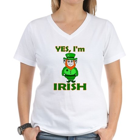 Yes I'm Irish Women's V-Neck T-Shirt